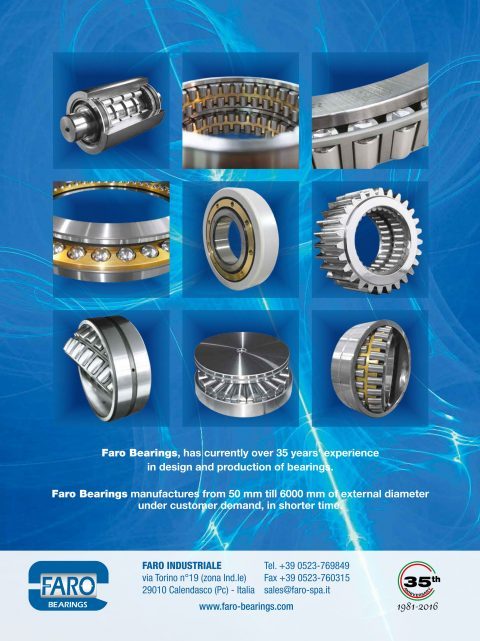 Experience in design and production of bearings